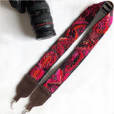 Red and Pink Neon Camera Strap  The Fox and the Mermaid