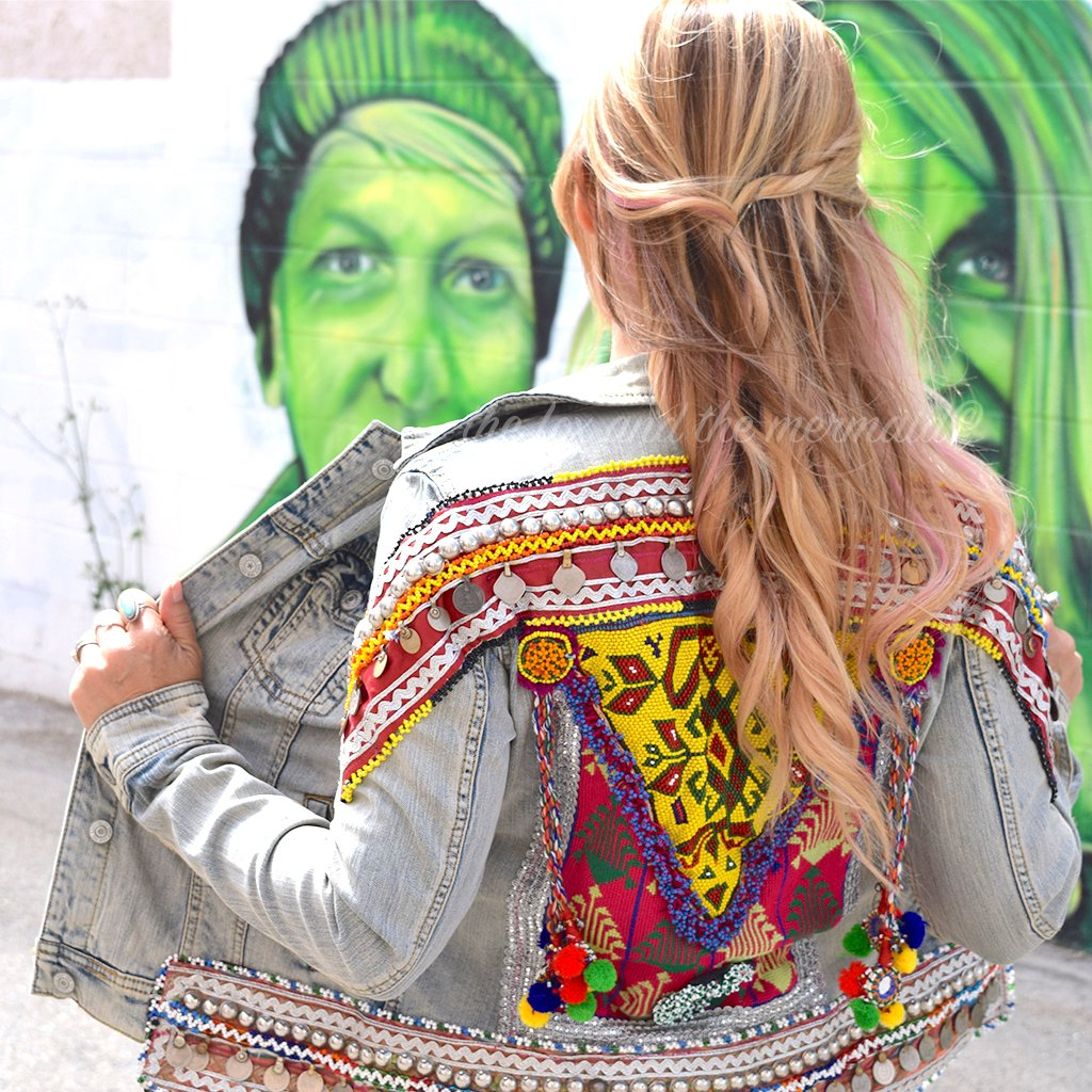 Embellished Banjara Jean Jacket (S) - The Fox and The Mermaid