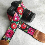 Floral Embroidered Embellished Camera Strap The Fox and the Mermaid