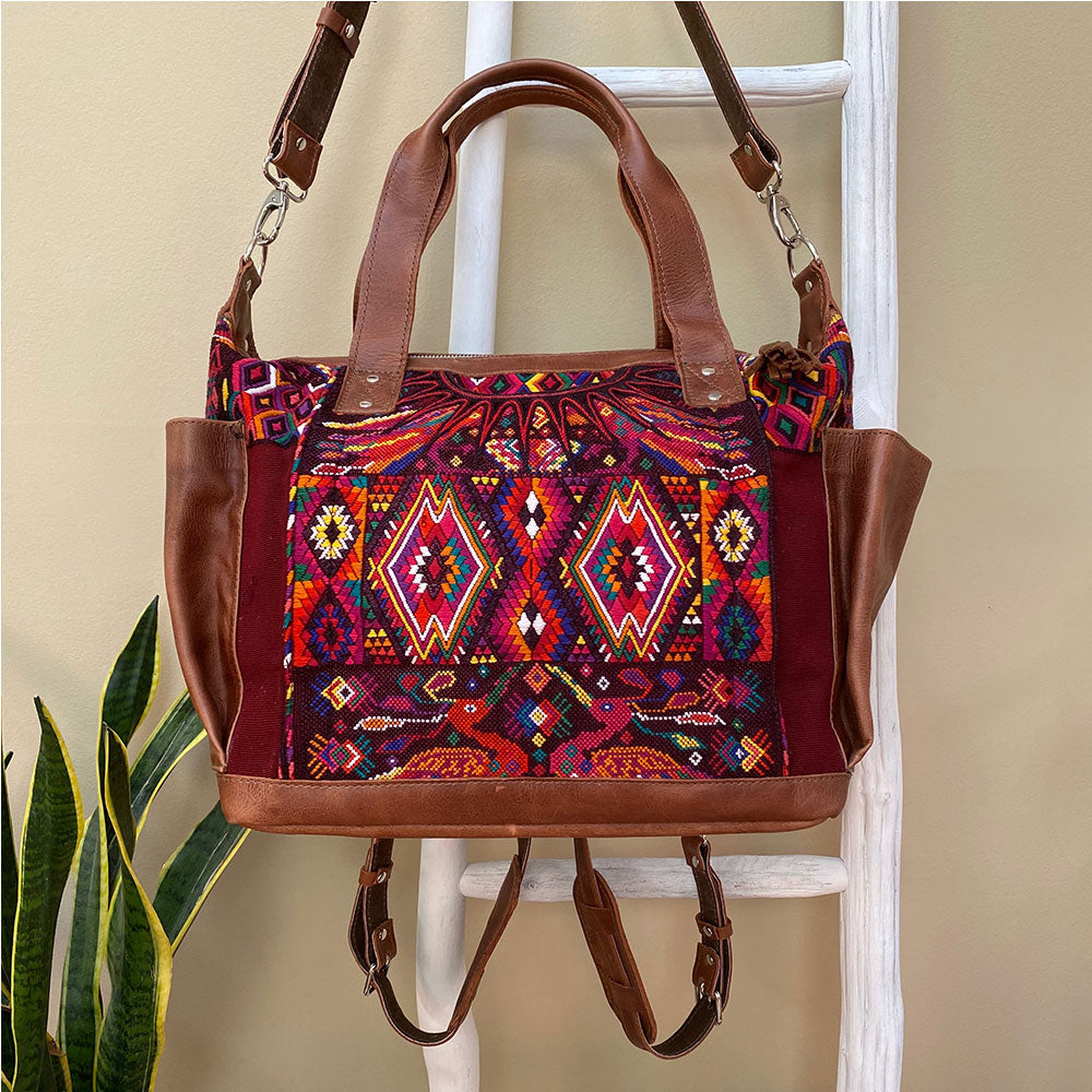 diaper bag with detachable straps  Guatemalan  - The Fox and the Mermaid