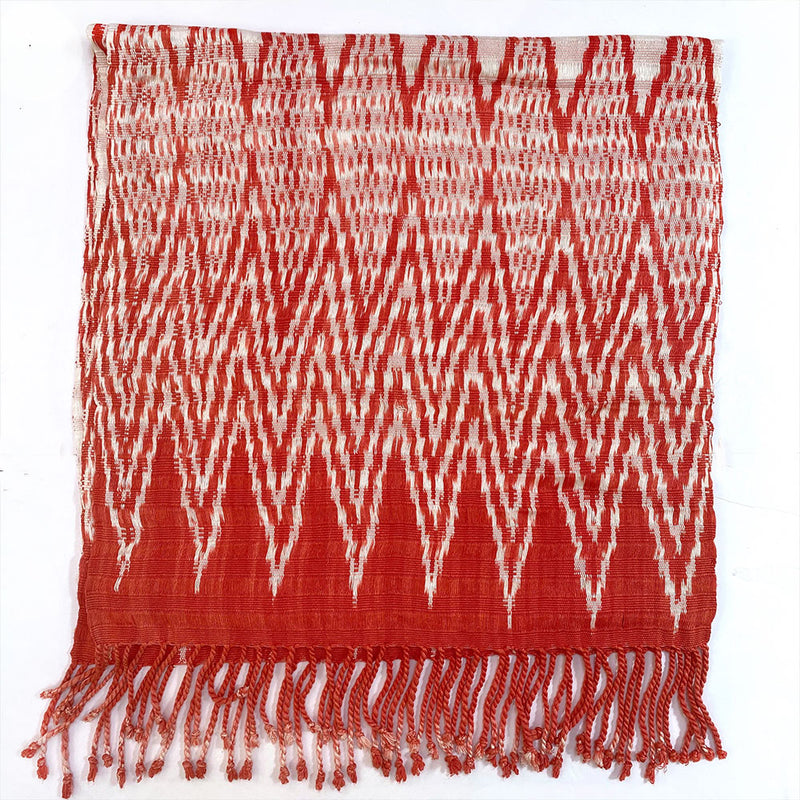 red guatemalan throw and shawl - The Fox and the Mermaid