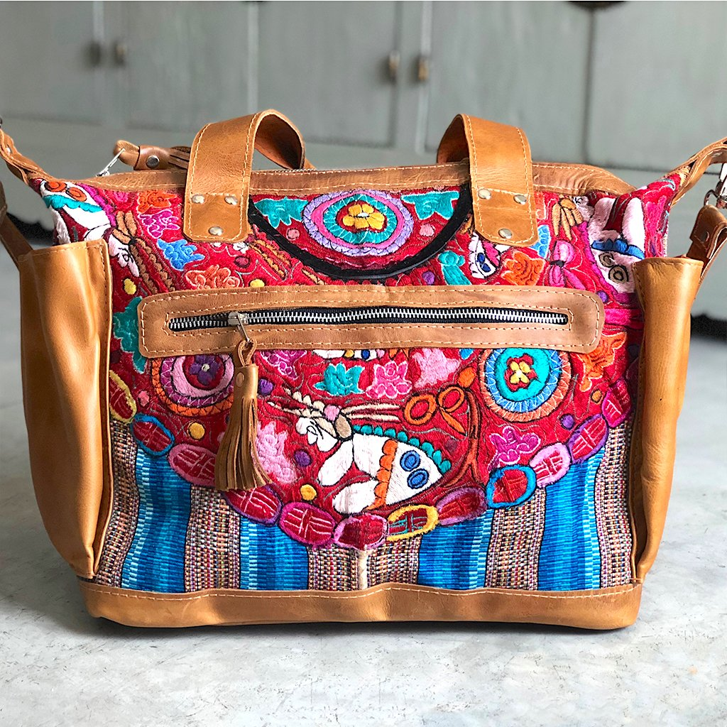 guatemalan huipil bag The Fox and the Mermaid