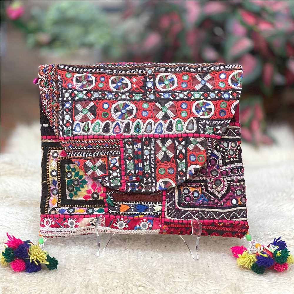 Boho Indian Vintage embroidered clutch - The Fox and the Mermaid