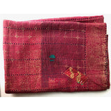 red kantha quilt The Fox and the Mermaid