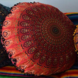 Mandala Tapestry Floor Cushion: Red and Black - The Fox and The Mermaid - 1