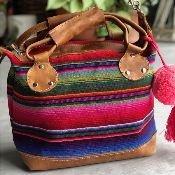 Red and Blue Serape Bag The Fox and the Mermaid