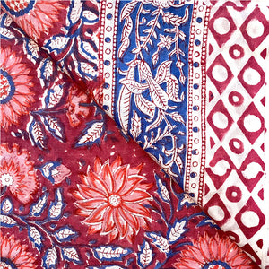 sarong details of flowers and border print - The Fox and the Mermaid