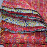Vintage Hand-Stitched Kantha Scarf - The Fox and The Mermaid - 4
