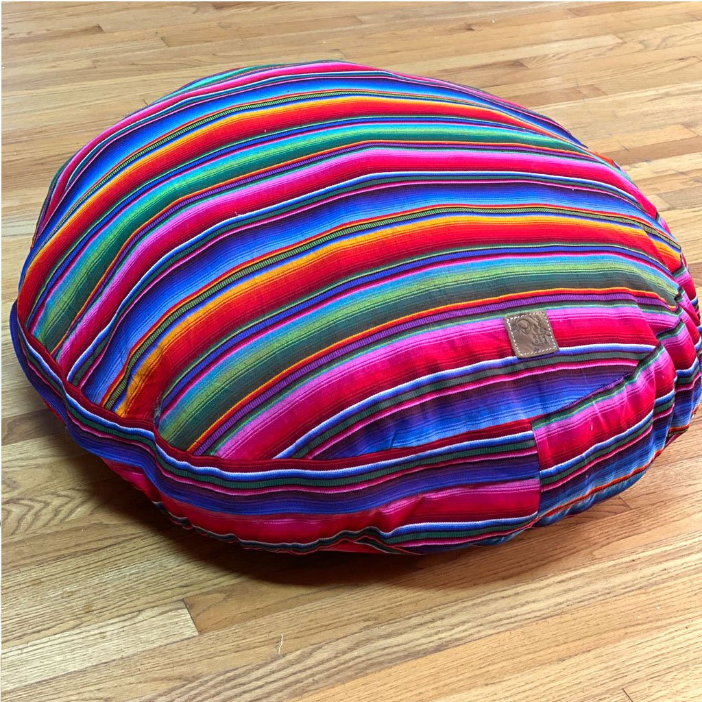 Round Serape Rainbow Dog Bed - The Fox and the Mermaid