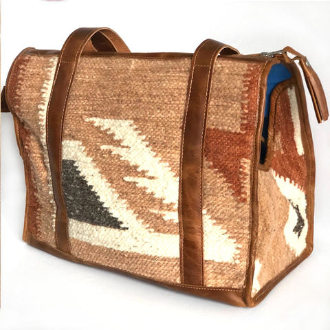 Rust and Grey Guatemalan Wool Dog Purse and Carrier
