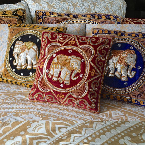 Elephant Cushion Cover (Various Colors)