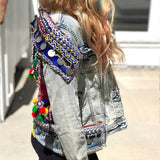 Halographic Denim Jacket The Fox and the Mermaid