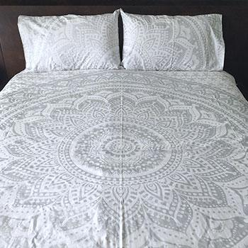 Silver Duvet Cover The Fox and the Mermaid