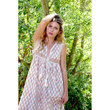 beige flowy indian hippie dress the-fox-and-the-mermaid