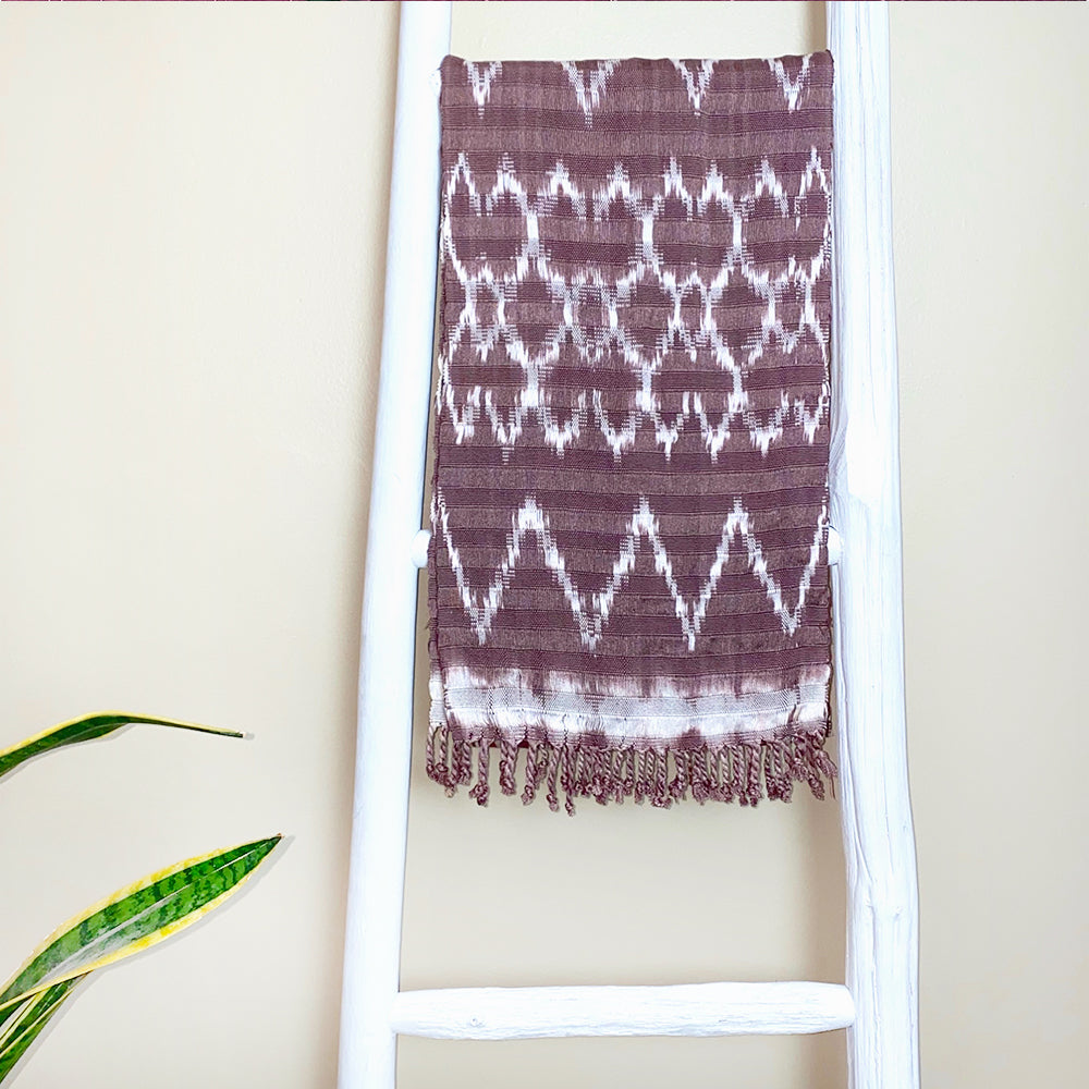 Brown handmade guatemalan scarf - The Fox and the Mermaid