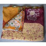 Batik Kantha quilt The Fox and the Mermaid