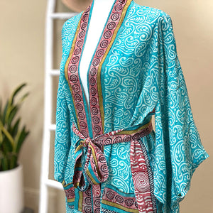 Soft silk crepe kimono - The Fox and the Mermaid
