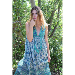 70s retro bohemian dress the-fox-and-the-mermaid