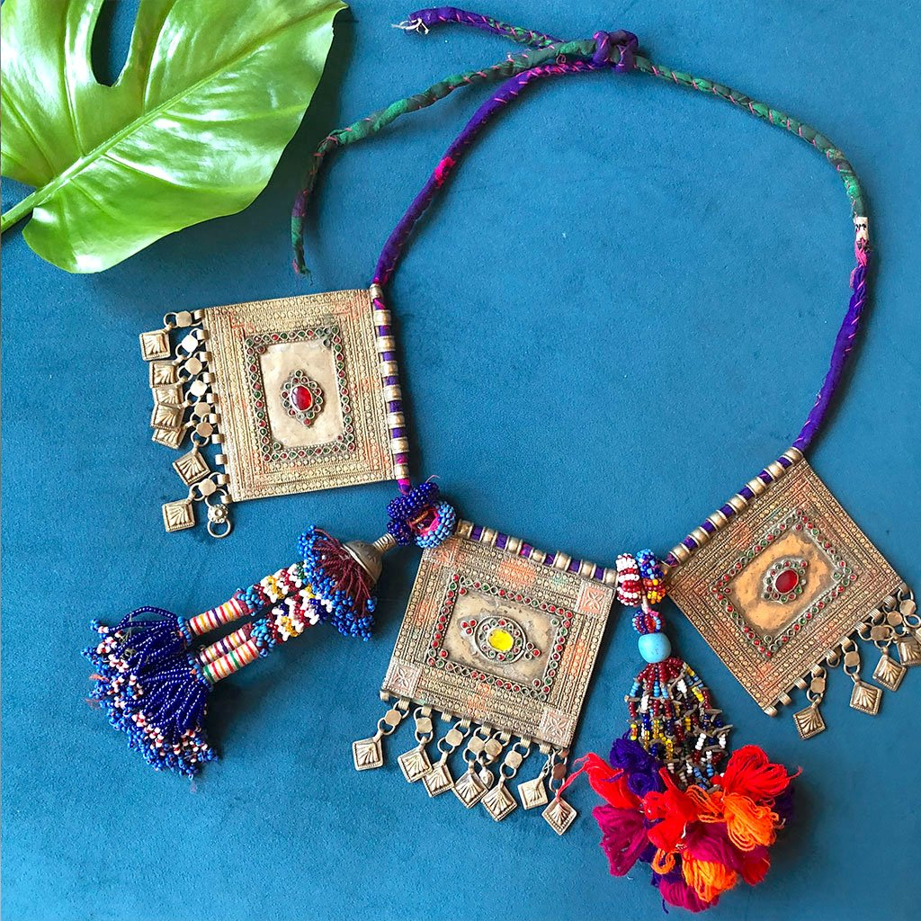 Afghani Kuchi Tribe Beaded Necklace - The Fox and The Mermaid