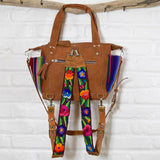 Suede Rainbow Serape Diaper bag and backpack The Fox and the Mermaid