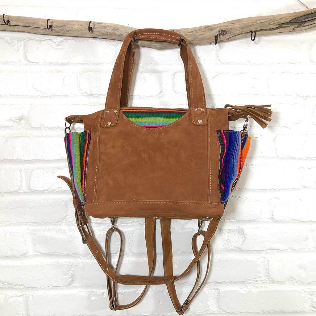 Suede Serape bag with backpack straps The Fox and the Mermaid