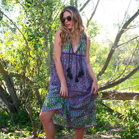 Santa Cruz Sleeveless Dress: Mauve