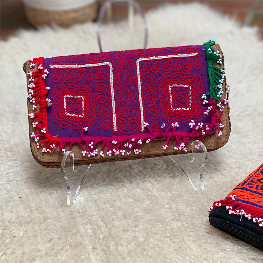 Embroidered Suede Banjara Wallet (Various Colors) - The Fox and The Mermaid