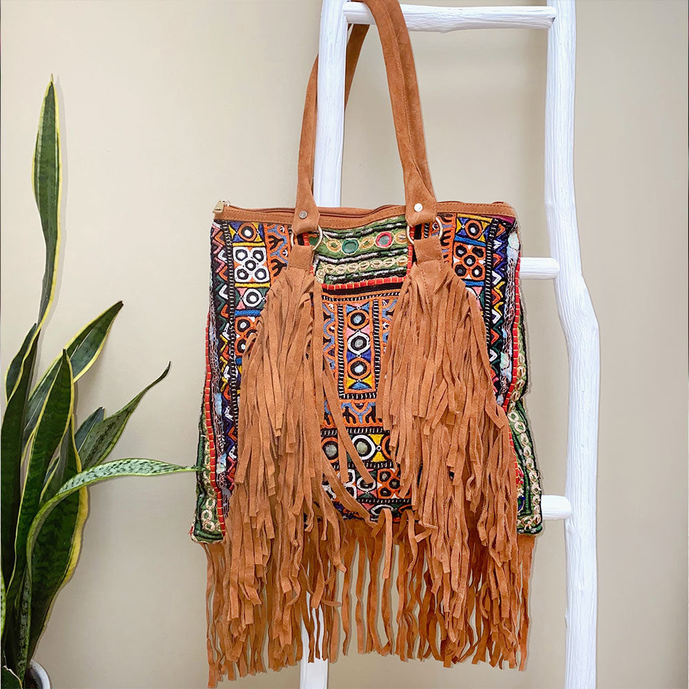 one of a kind indian fringe banjara bag - The Fox and the Mermaid