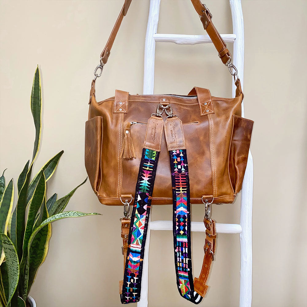tan leather guatemalan bags with detachable straps - The Fox and the Mermaid