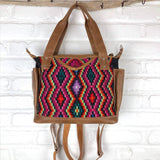 Geometric huipil convertible bag with backpack straps The Fox and the Mermaid