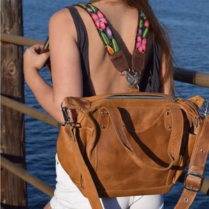 Tan Leather Convertible Backpack Bag - The Fox and the Mermaid
