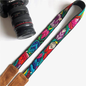 Leather Embroidered Strap - The Fox and The Mermaid