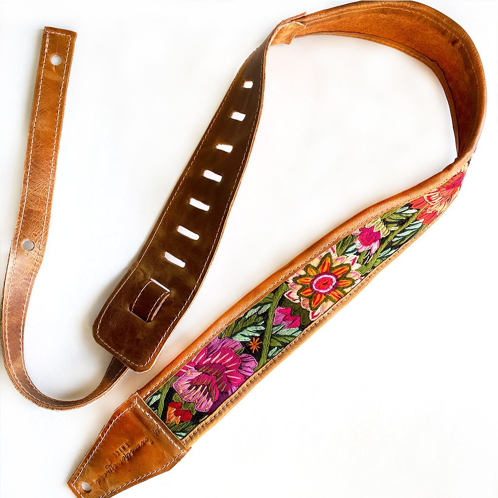 guatemalan guitar strap - The Fox and the Mermaid