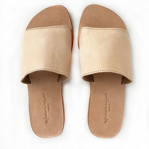 tan leather flip flops The Fox and the Mermaid