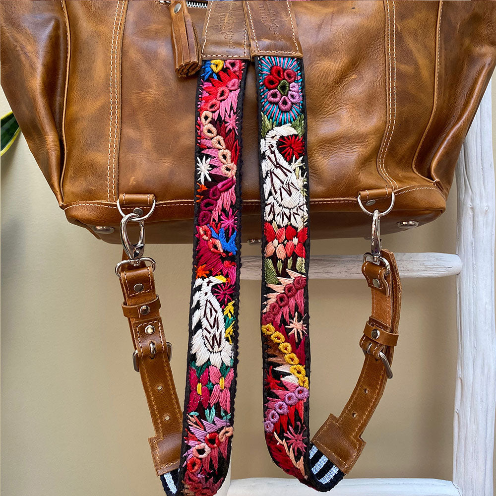Embroidered backpack straps  - The Fox and the Mermaid