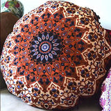 Mandala Tapestry Floor Cushion: Brown and Black - The Fox and The Mermaid - 2