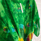 green ranbow tie-dyed kimono The Fox and the Mermaid