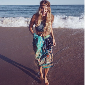 Turquoise tie-dye skirt The Fox and the Mermaid