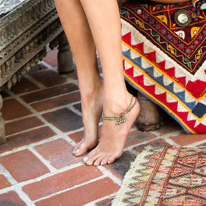tribal anklets with bells - The Fox and the mermaid