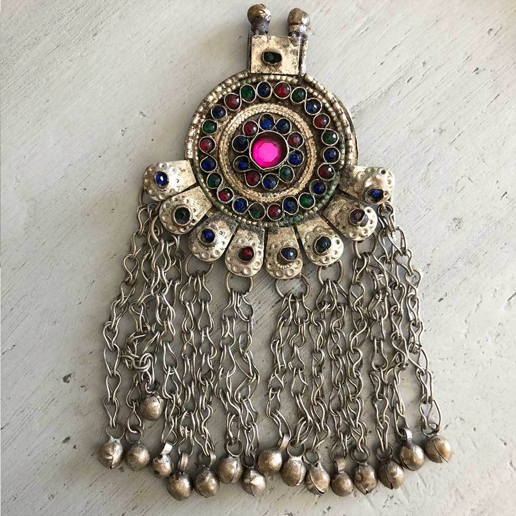 Vintage Tribal Pendant with Bells The Fox and the Mermaid