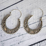 Spiked Engraved Tribal Earrings The Fox and the Mermaid