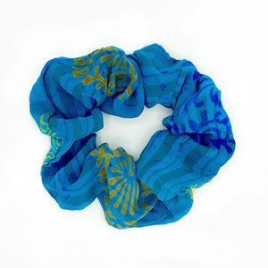 vintage silk scrunchie - The Fox and the Mermaid