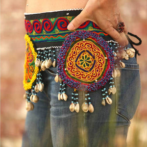 tribal Kuchi Belt with Cowrie Shells  The Fox and the Mermaid