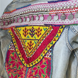tribal embellished denim jacket The Fox and the Mermaid