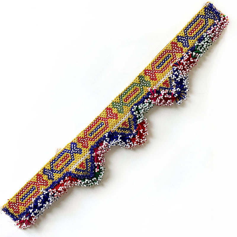 Long Beaded Vintage Indian Tribal Patch The Fox and the Mermaid
