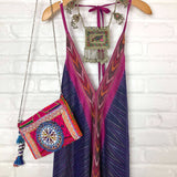 purple and pink indian dress vintage silk The Fox and the Mermaid