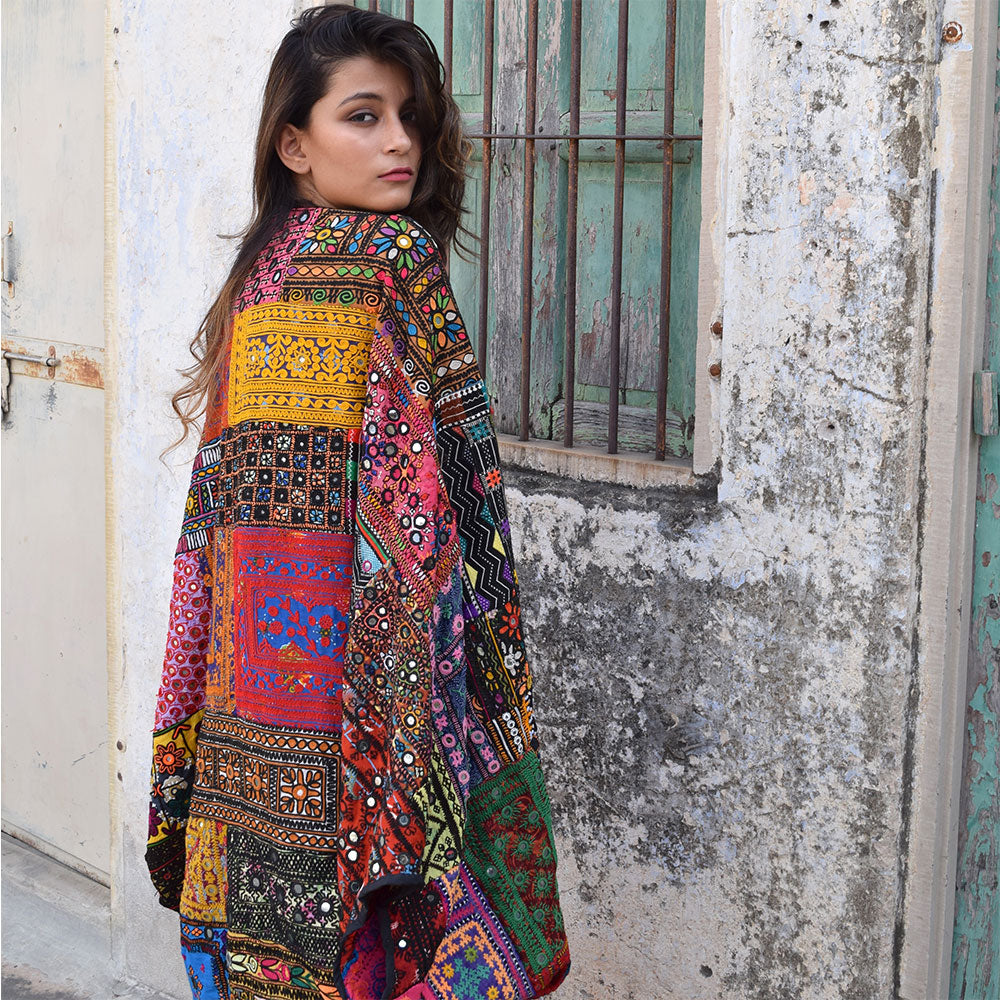 colorful bohemian kimono wrap - The Fox and the Mermaid
