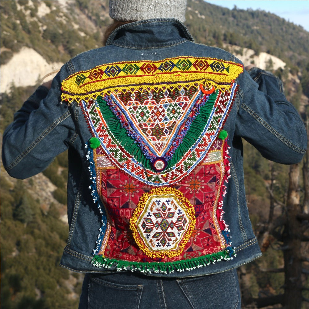 dark denim embellished jacket The Fox and the Mermaid