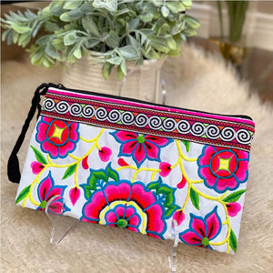 Hmong Embroidered Clutch  - The Fox and The Mermaid