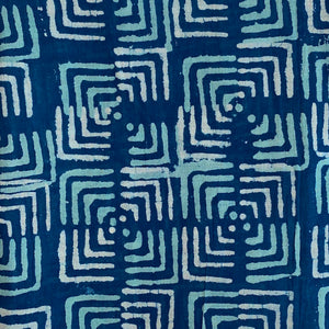 indigo pattern on sarong - The Fox and the Mermaid